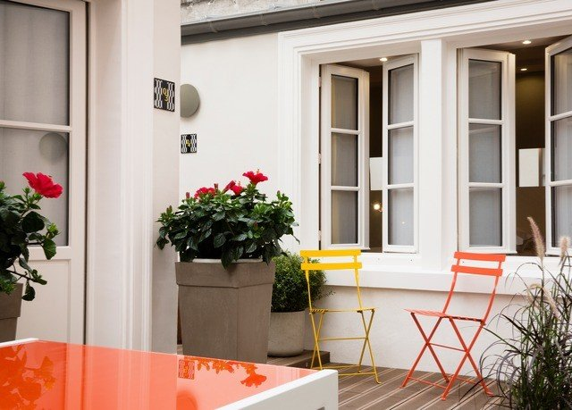 property building home Balcony porch plant cottage orange door