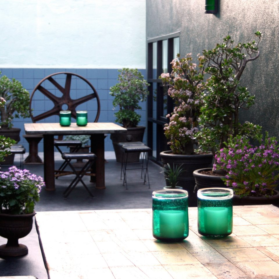 Balcony City Garden Hip Outdoors Patio Terrace ground man made object Courtyard home sidewalk plant lighting backyard outdoor structure cottage yard living room porch flower