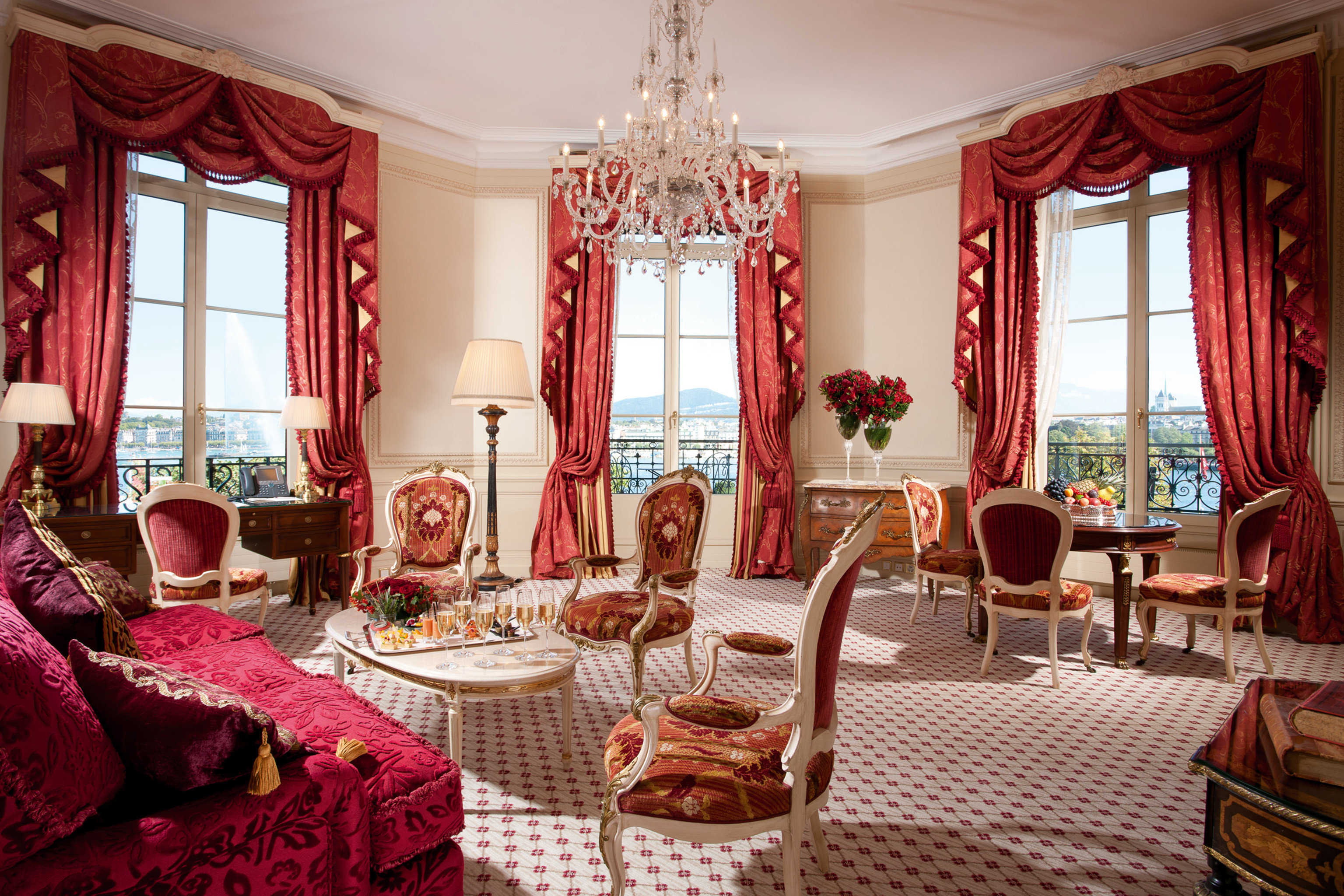 Balcony Classic Elegant Historic Lounge Luxury Scenic views Suite chair living room mansion palace