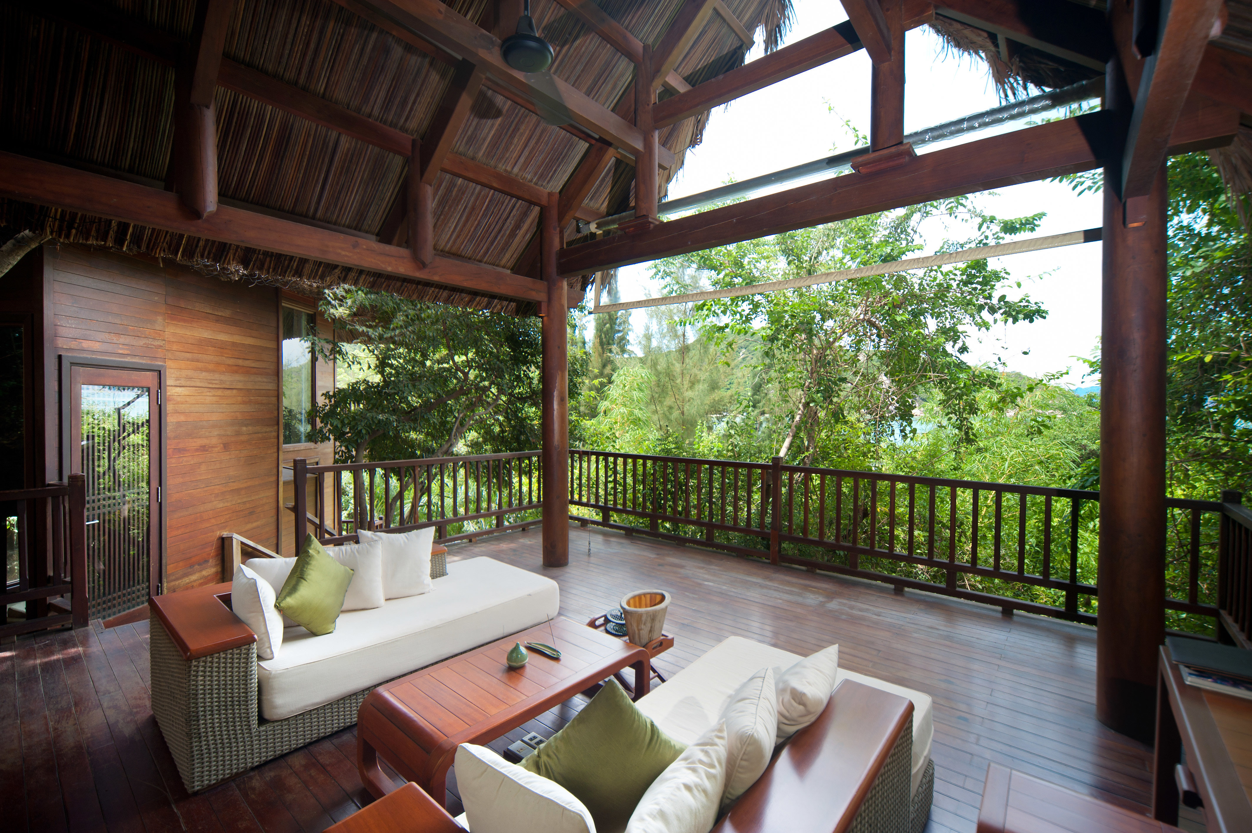 Balcony Country Eco Elegant Forest Jungle Lounge Luxury Mountains Nature Outdoor Activities Scenic views Tropical Villa Waterfront property Resort house porch home cottage outdoor structure backyard farmhouse hacienda