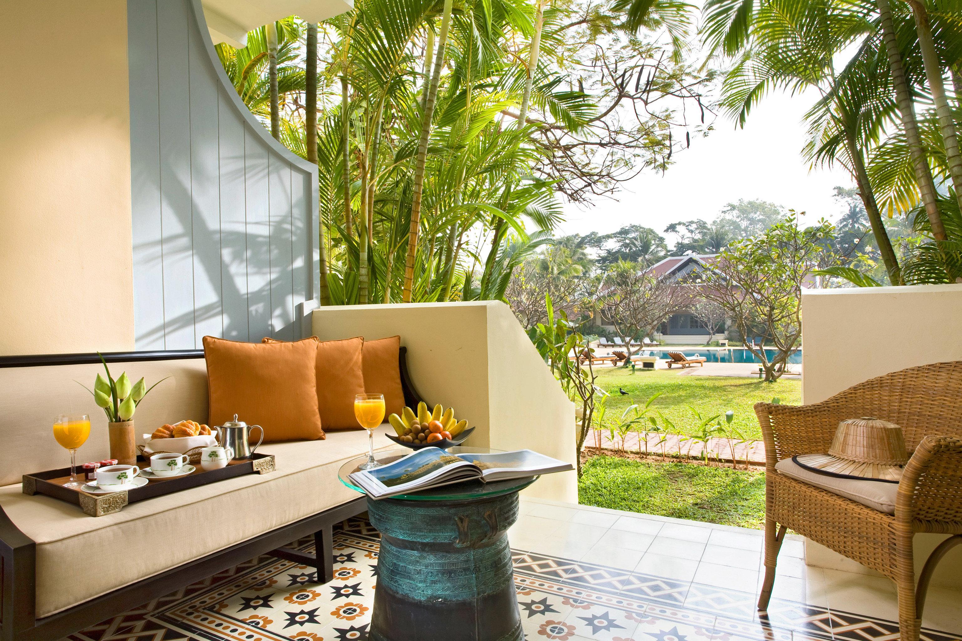 Balcony Country Historic Luxury Terrace Tropical tree property condominium home Resort Villa living room backyard cottage swimming pool