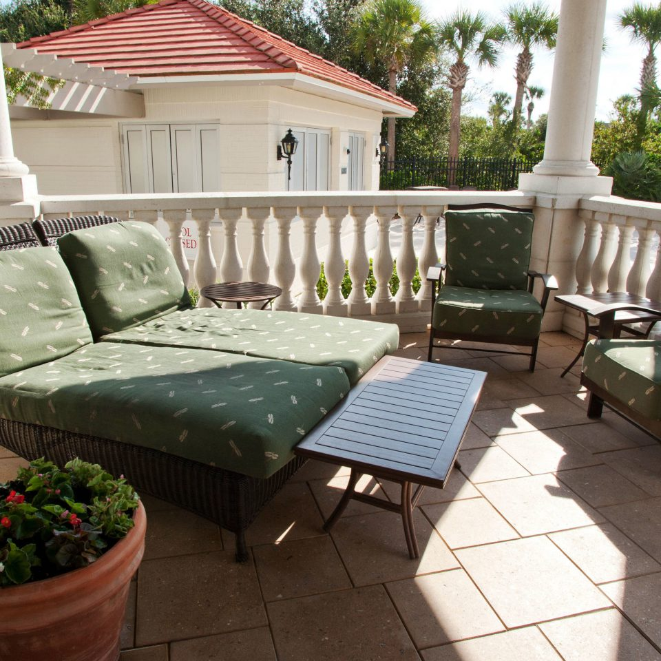 green property porch home backyard outdoor structure yard living room cottage Patio Deck Villa Garden lawn Courtyard Balcony