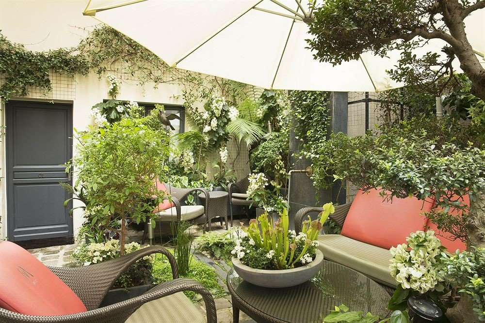 tree property Courtyard yard plant Garden backyard floristry flower home outdoor structure cottage green Balcony