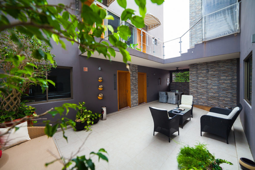 condominium property house home building Courtyard Villa residential area Balcony backyard cottage outdoor structure