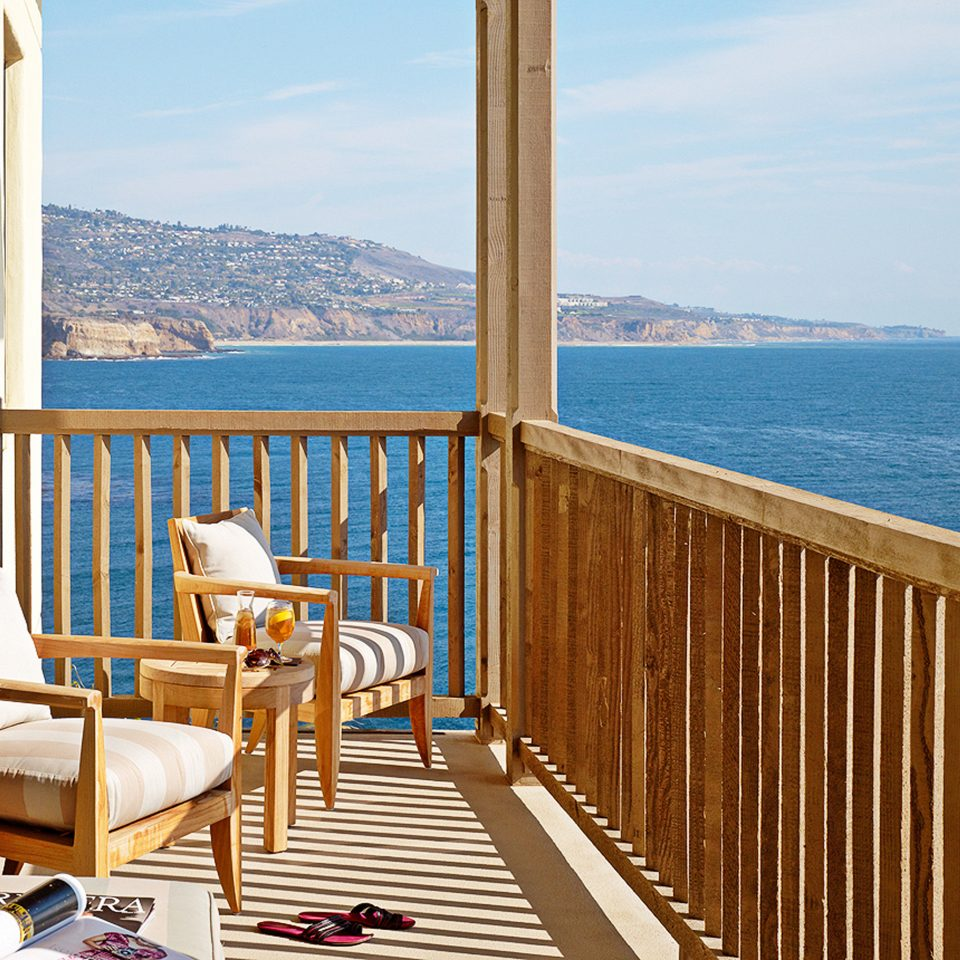 Balcony Eco Ocean Romantic Scenic views water sky overlooking property chair building Deck house porch home Resort cottage wooden Villa Sea