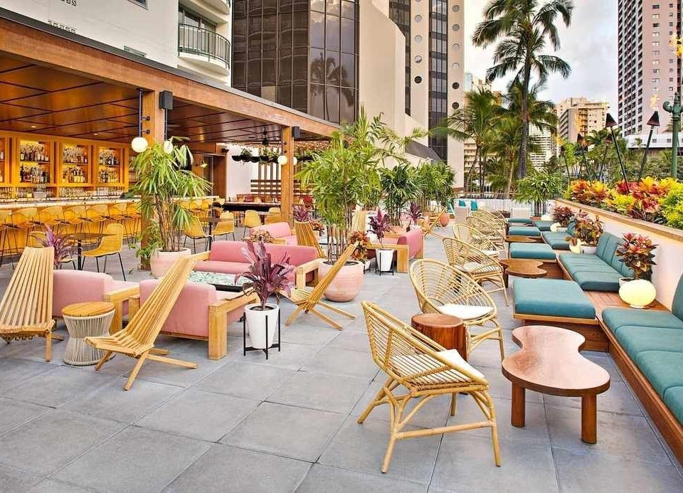 building chair Resort Patio outdoor structure leisure restaurant Dining outdoor furniture Balcony mixed use backyard