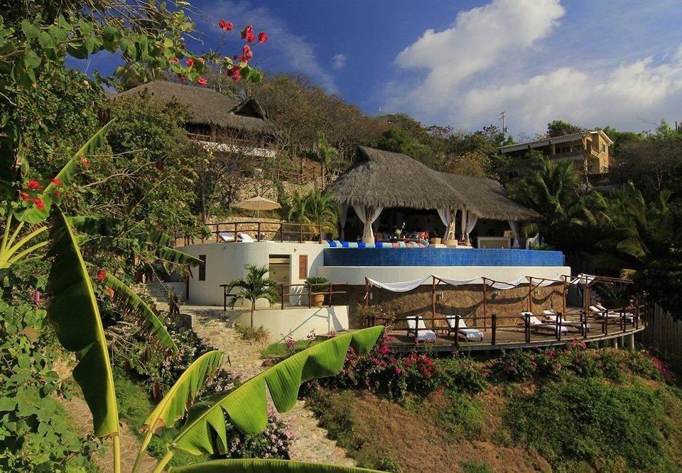 Balcony Exterior Resort Waterfront tree Village Jungle Villa lush Garden