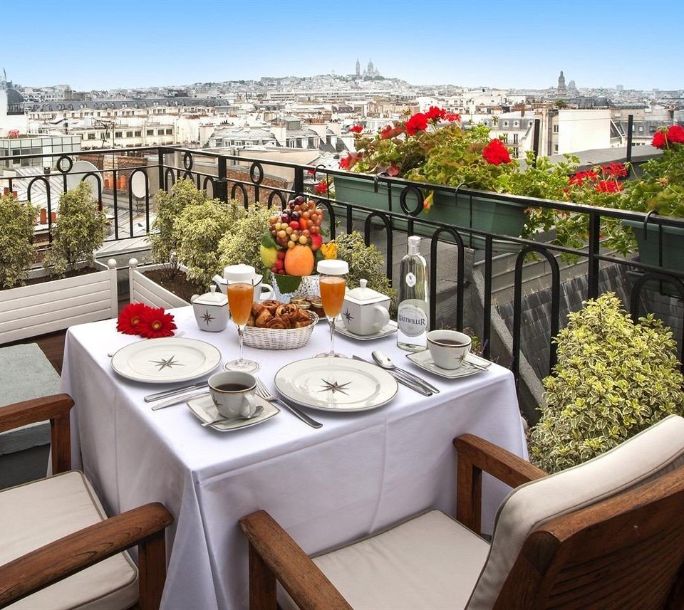sky property flower restaurant Balcony set Garden