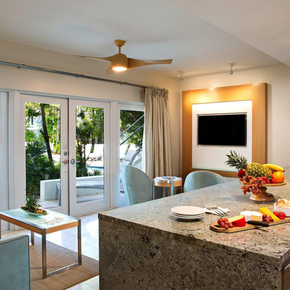 Balcony Kitchen Modern property home living room Suite cottage farmhouse Villa Island