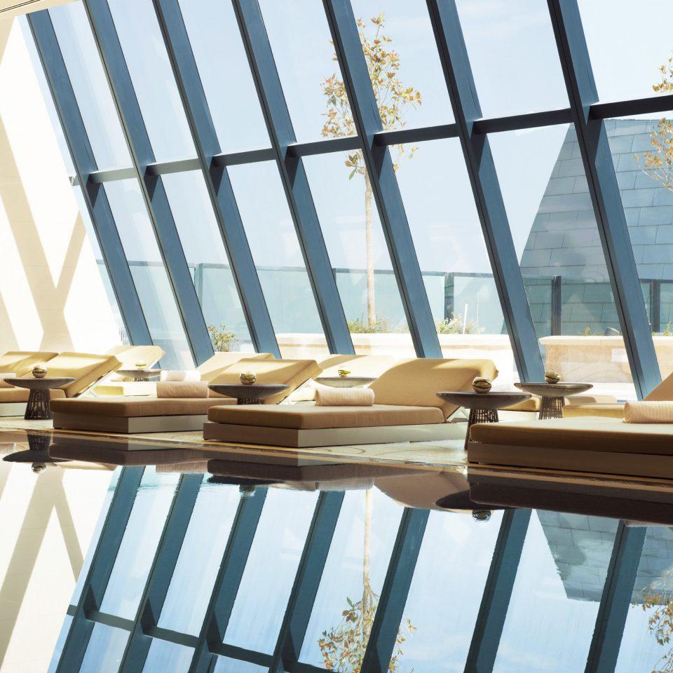 Lounge Luxury Modern Pool Scenic views building daylighting Balcony home handrail baluster roof glass rack