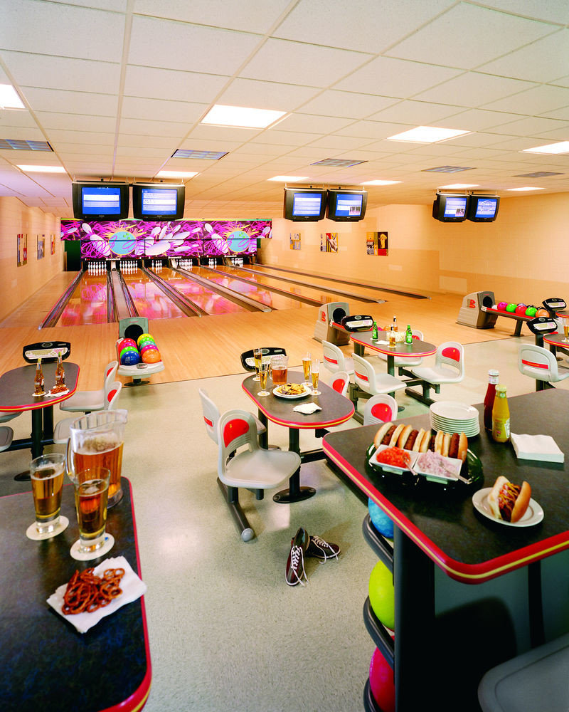 bowling ten pin bowling leisure ball game sports recreation room cluttered
