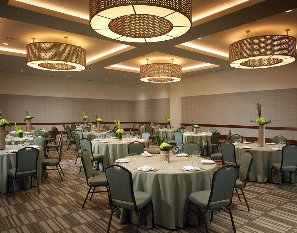 chair restaurant function hall banquet ballroom convention center conference hall café