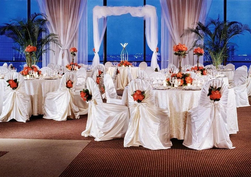 curtain wedding ceremony quinceañera banquet wedding reception function hall white cloth flower ballroom clothes