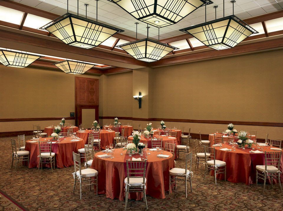 chair function hall banquet conference hall ballroom restaurant convention center set