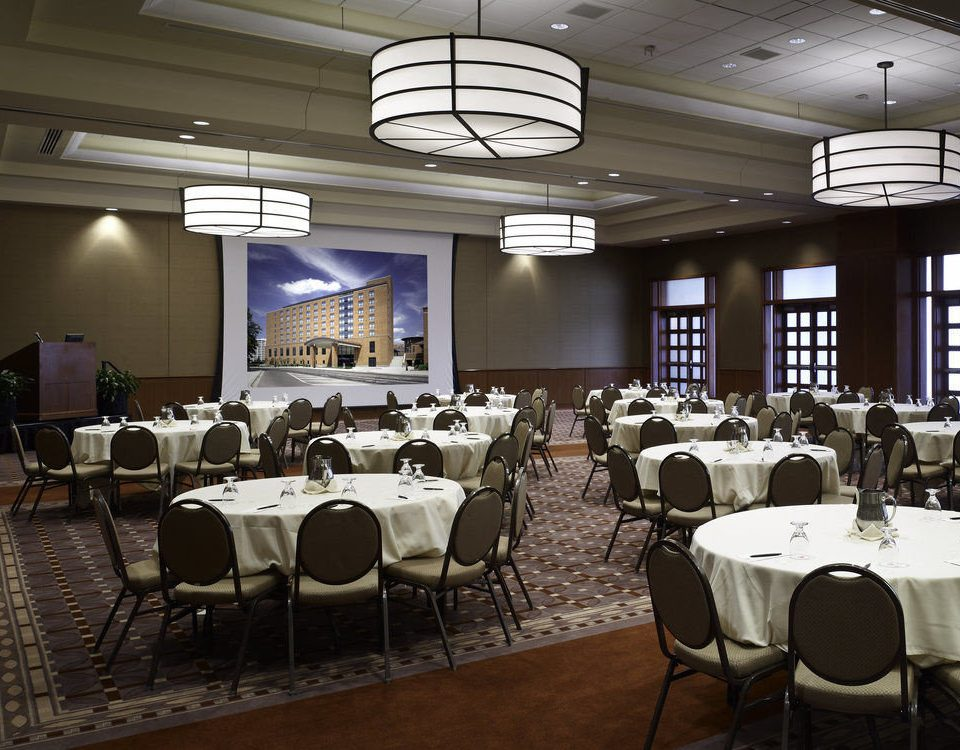 chair function hall conference hall restaurant banquet ballroom convention center meeting