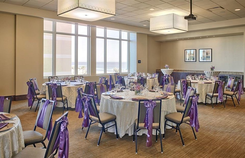 chair function hall restaurant conference hall purple banquet ballroom