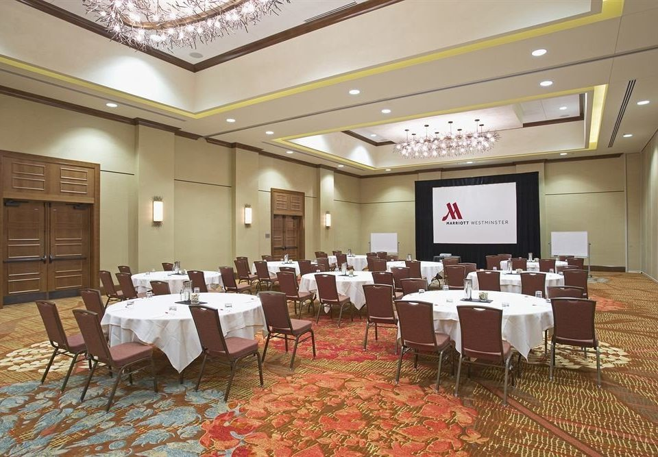 chair function hall conference hall banquet ballroom convention center restaurant