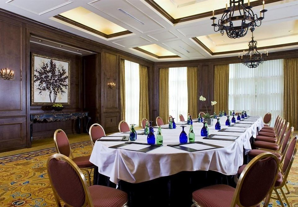 chair function hall conference hall banquet ballroom meeting convention center restaurant set dining table