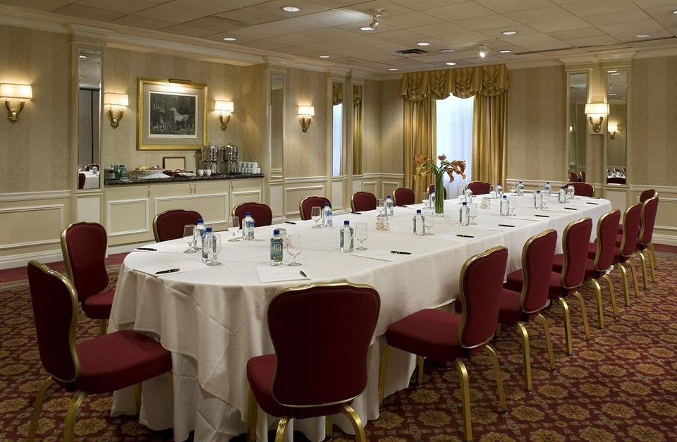 chair function hall conference hall banquet restaurant meeting ballroom convention center convention fancy set