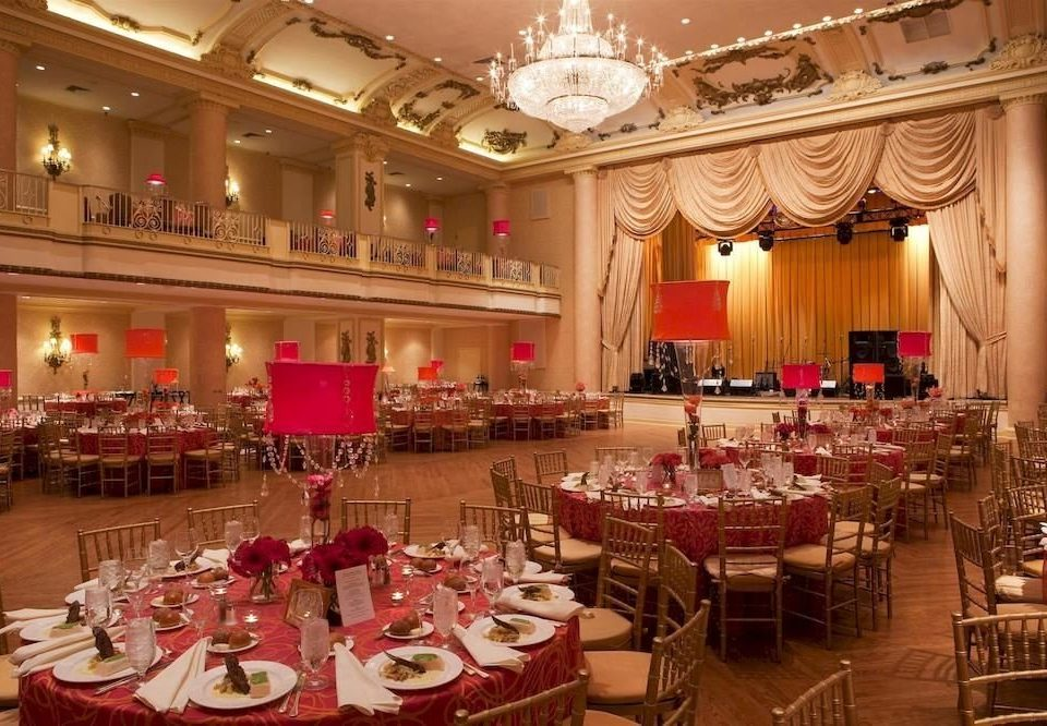function hall banquet scene ballroom palace restaurant wedding reception set