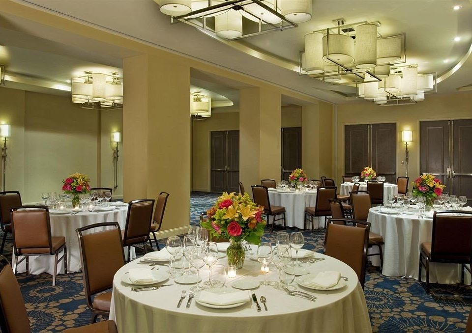 function hall restaurant banquet ballroom set surrounded