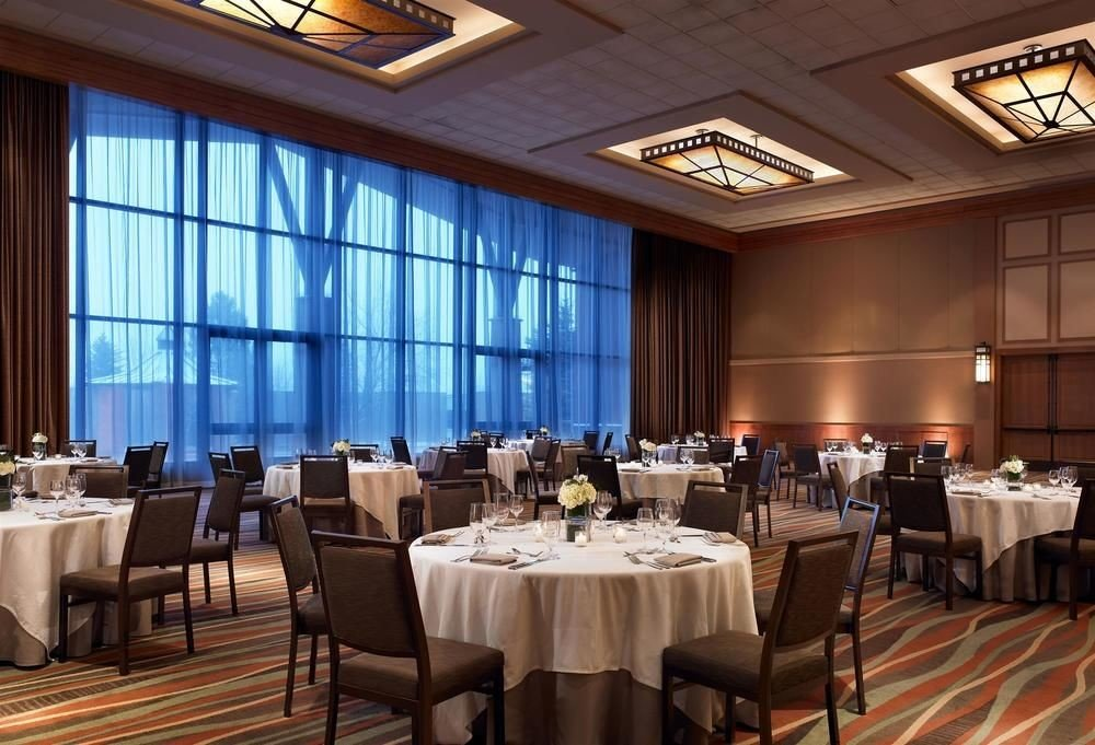 chair function hall restaurant conference hall convention center ballroom