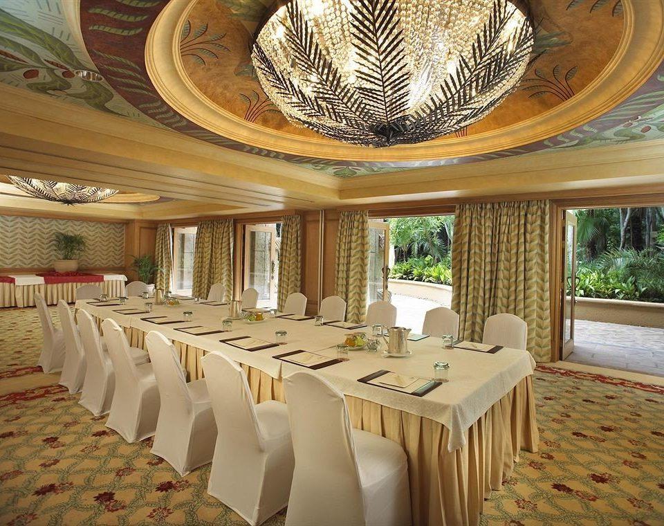 function hall restaurant ballroom lined