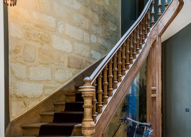 stairs building handrail baluster daylighting material step stair stone