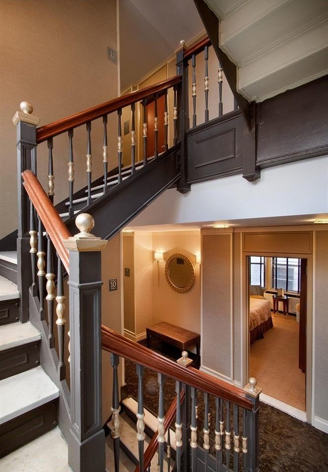 stairs property house home handrail cottage living room loft baluster cabinetry