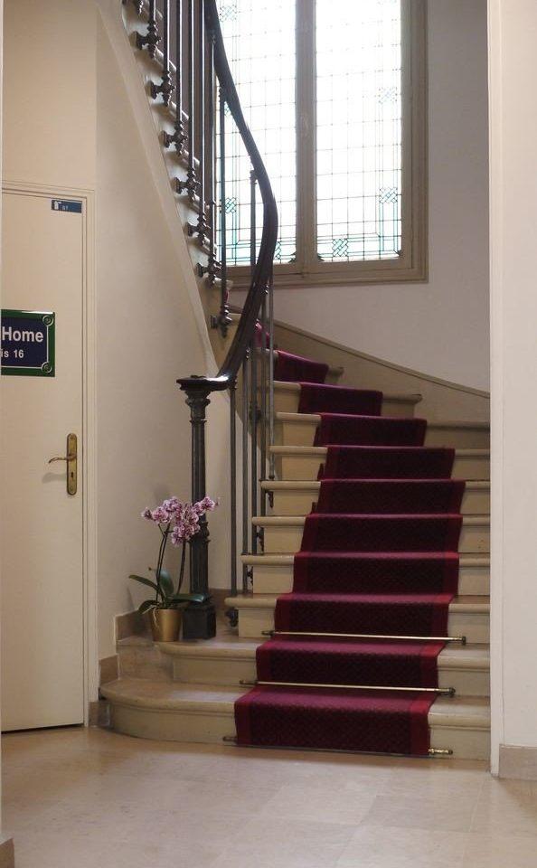 stairs handrail baluster hardwood flooring wood flooring hall laminate flooring step