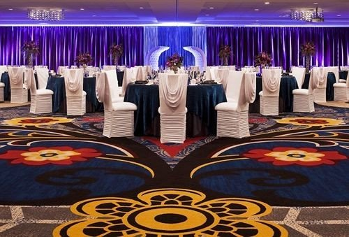 colorful function hall colored purple banquet bedclothes