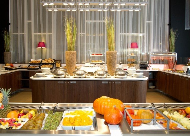 buffet brunch counter breakfast function hall restaurant banquet lunch orange