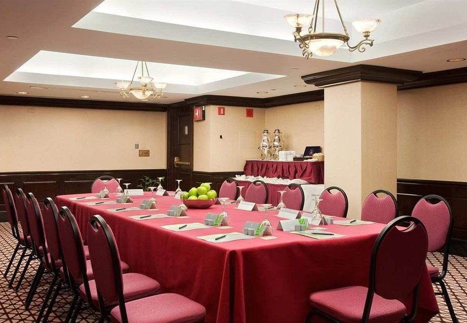 chair function hall pink restaurant conference hall red banquet