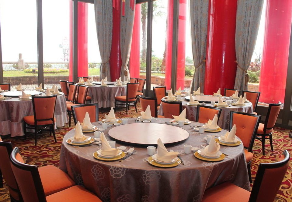 chair red restaurant function hall set banquet