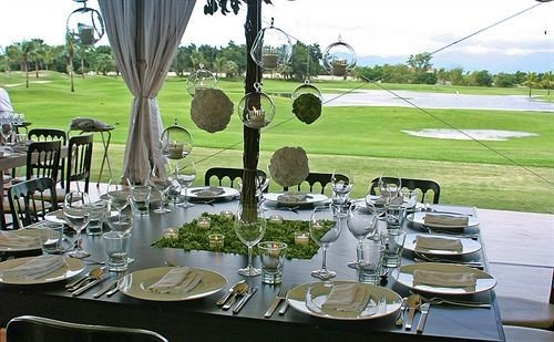 grass banquet restaurant function hall dining table