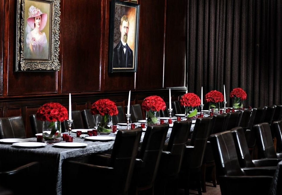 red function hall restaurant banquet set