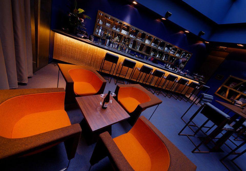 chair desk stage screenshot auditorium Bar orange