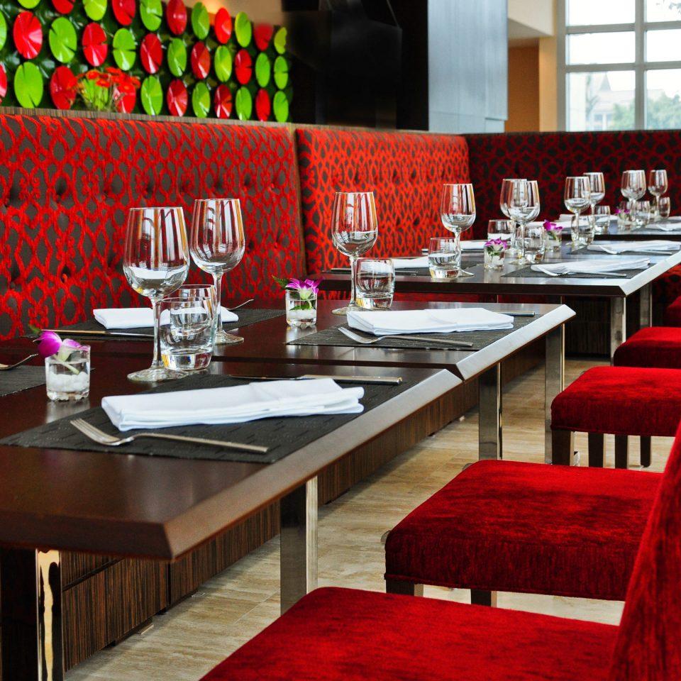 red restaurant function hall banquet Bar ballroom