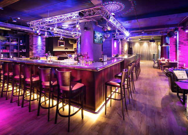 nightclub function hall Bar ballroom wedding reception purple