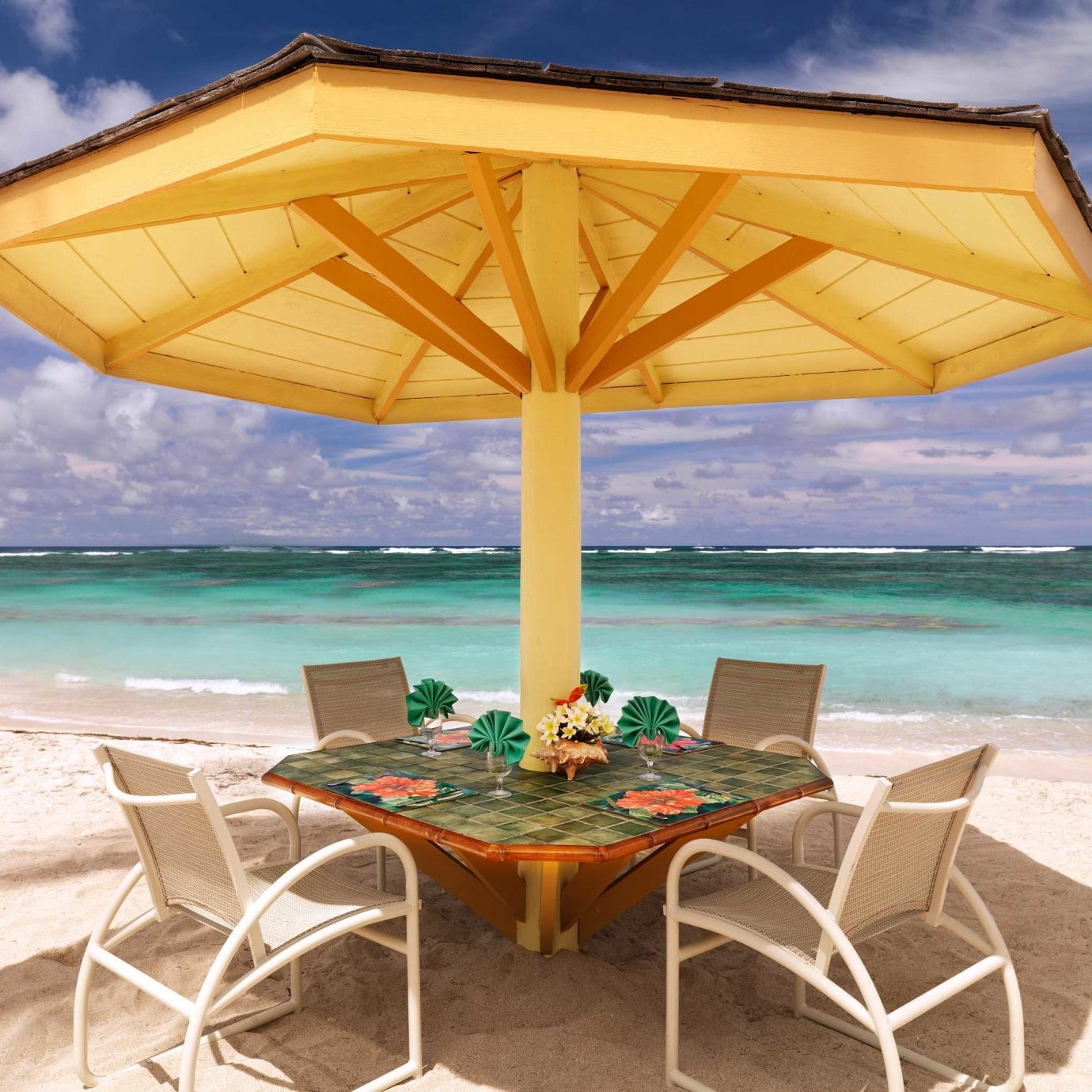 Bar Beach Beachfront Dining Drink Eat Luxury Scenic views umbrella sky chair water ground lawn set outdoor structure empty shore day