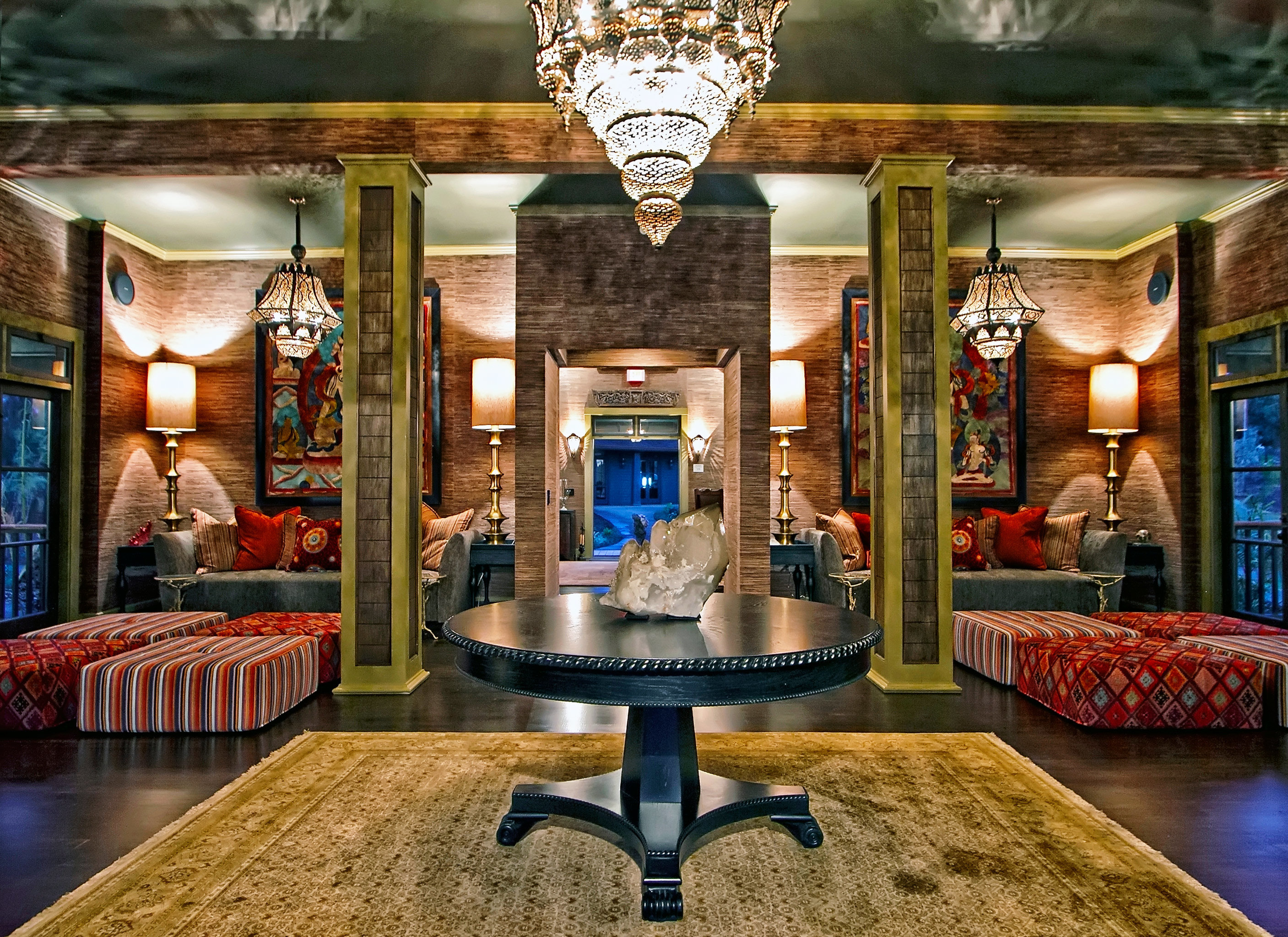 Beach Boutique Hotels Eco Hotels Lounge Luxury Travel Modern Romance Lobby lighting mansion home Bar screenshot Boutique retail colorful