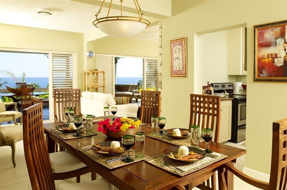 Beach Budget Dining Sea property home cottage condominium living room farmhouse Kitchen Bar Island dining table