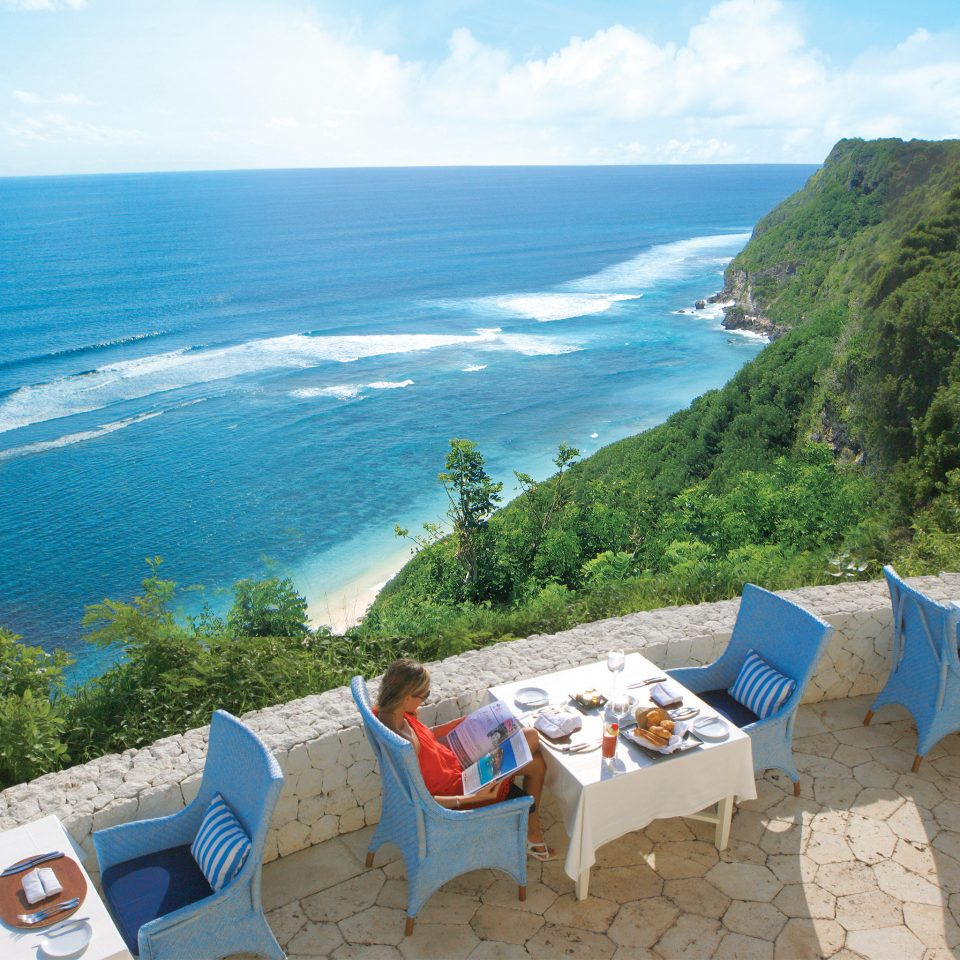 Bar Dining Drink Eat Luxury Modern Ocean sky Nature Beach mountain Sea Coast leisure caribbean shore cape Island Resort cove travel overlooking promontory