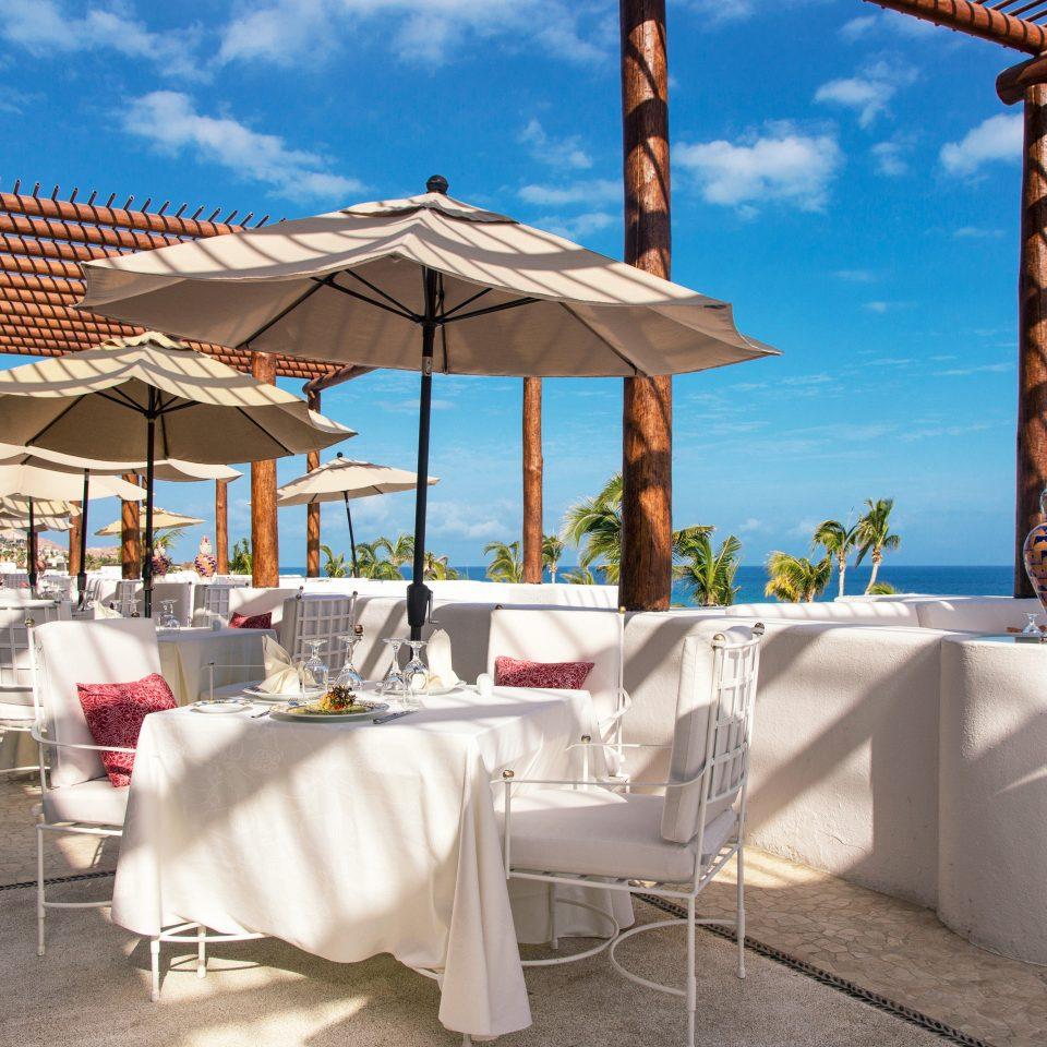 Bar Dining Drink Eat Elegant Tropical sky umbrella leisure chair Resort Beach restaurant Villa