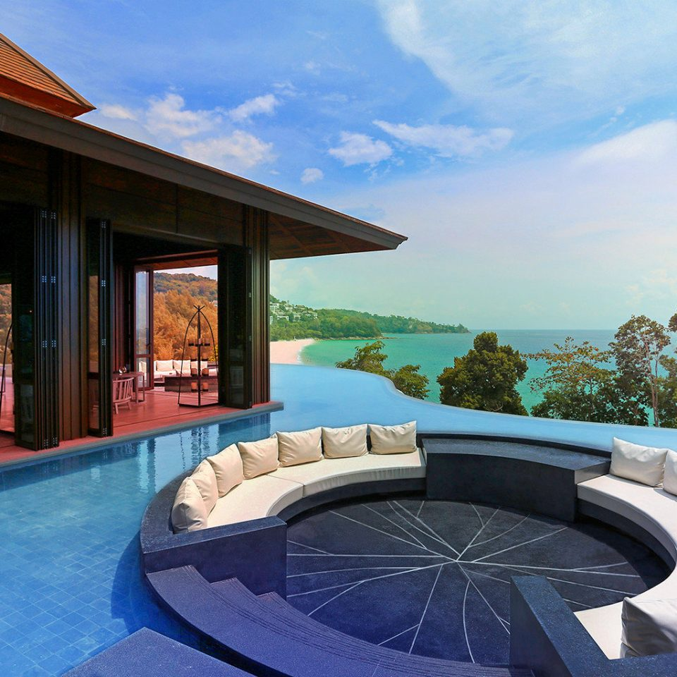 Bar Beach Family Lounge Modern Pool Resort sky swimming pool leisure property building Villa mansion overlooking stone