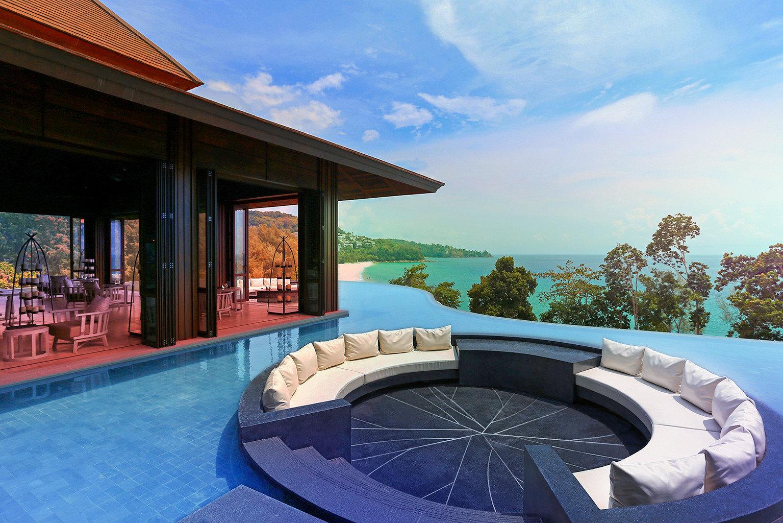 Bar Beach Family Lounge Modern Pool Resort sky swimming pool leisure property building Villa mansion overlooking stone