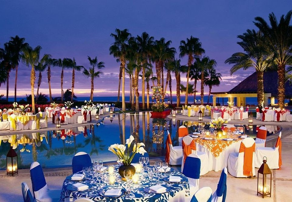 Bar Beachfront Dining Drink Eat Luxury tree Resort restaurant marina palm lined altar dining table