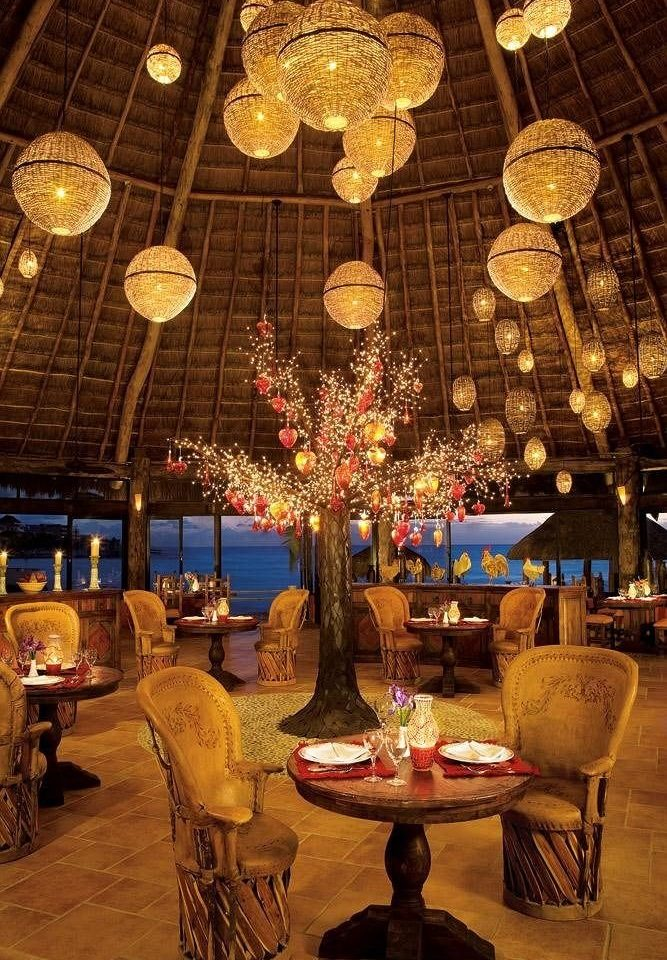 Bar Beachfront Dining Drink Eat Hip Luxury Modern Romantic restaurant Lobby ballroom