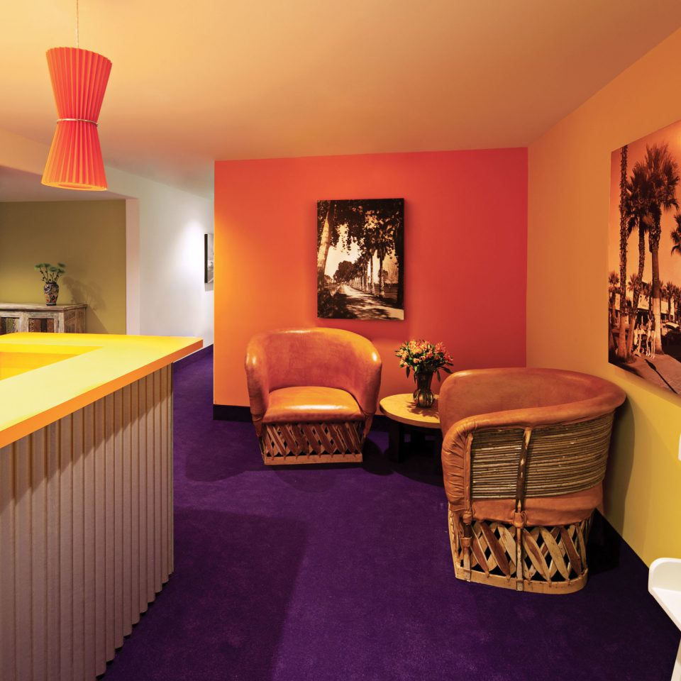Bar Dining Drink Eat Hip Lobby Lounge Modern Play Property Cottage Home  Suite Orange Bedroom Colored