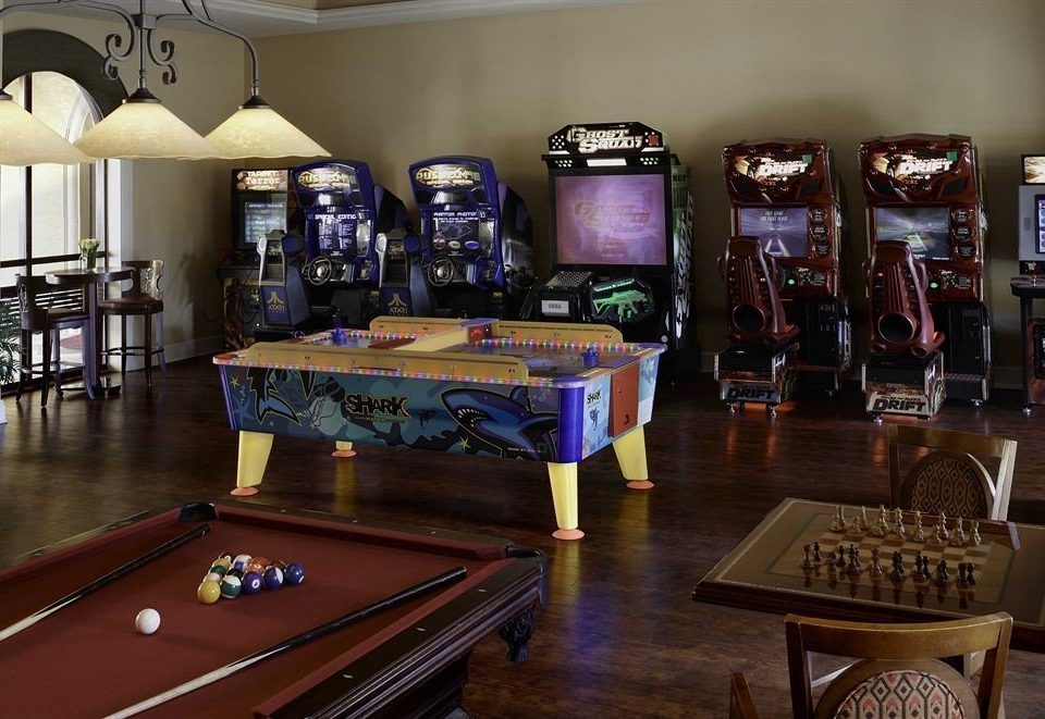recreation room billiard room games wooden pool table indoor games and sports Bar poolroom